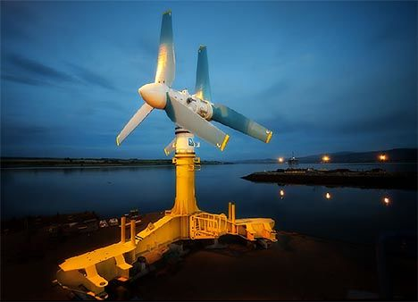 Giant tidal turbine will power 1,000 homes.