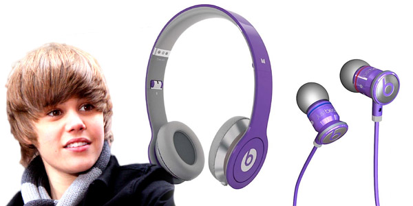 justin bieber beats by dr dre. justin bieber and eats