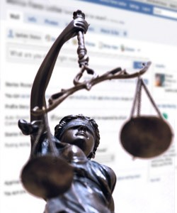 justice scales and facebook profile