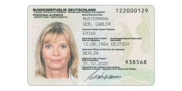 an example of the new german id cards