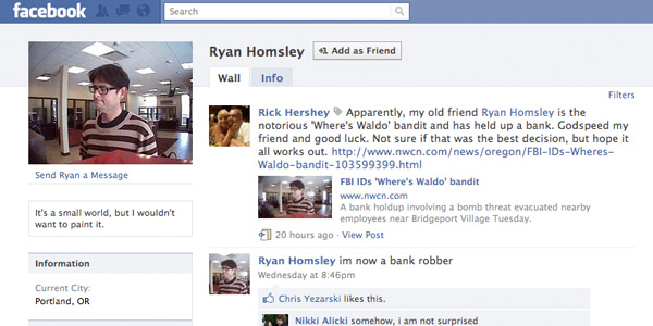 ryan homsley's facebook page