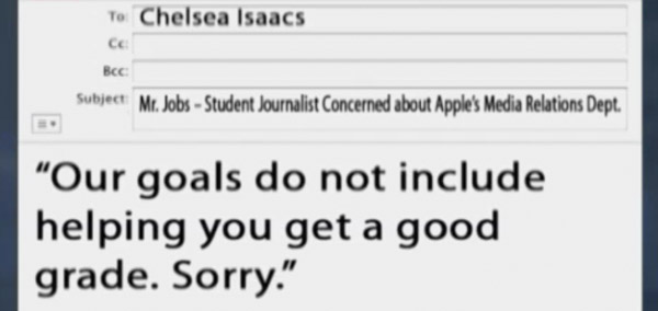 alleged email from steve jobs