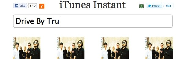 iTunes Instant, a Google Instant Search spin-off, emerges on Web.
