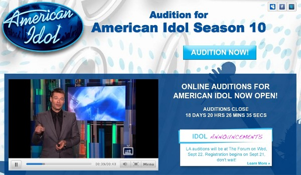 Idol Auditions on MySpace