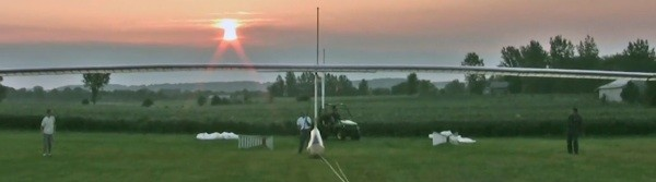 Man records first sustained ornithopter flight.