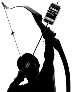 archer with iphone