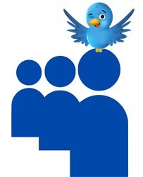 twitter bird on myspace logo