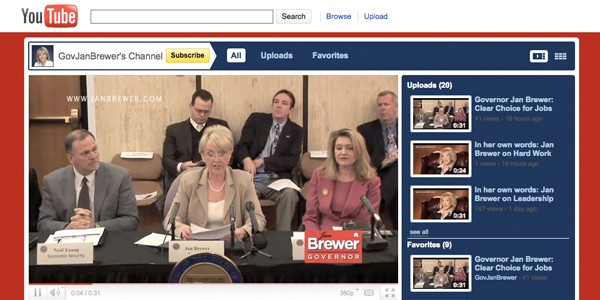 jan brewer's youtube channel