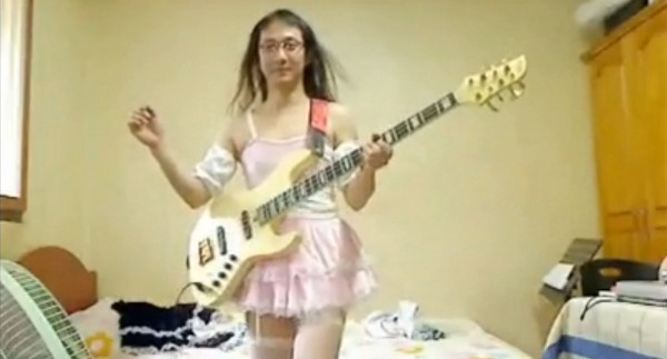 Cross Dressing Bass Player