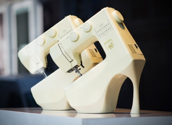 Shoes from sewing machines by Alexander McQueen