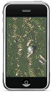 longleat maze on iphone