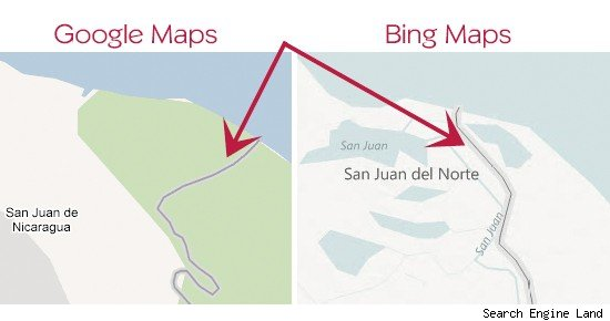 Google Maps and Bing