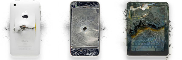 shattered apple gadgets