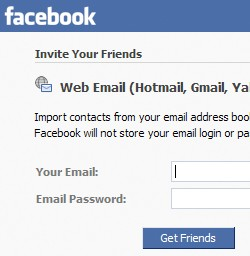 facebook import from google