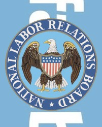 nlrb and facebook logos