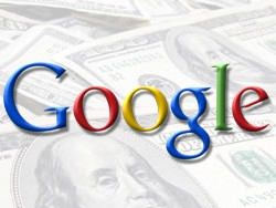google logo with cash