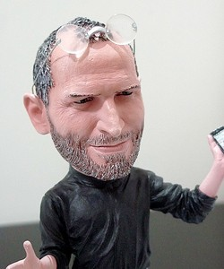 mic's steve jobs action figure