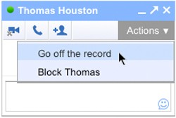 gchat off the record