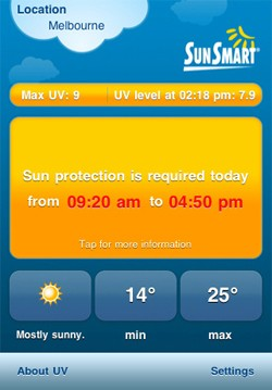 Sunsmart iPhone App