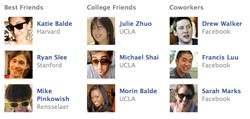 Facebook Featured Friends