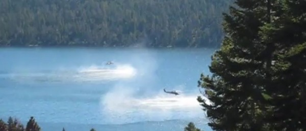 Helicopters on Lake Tahoe