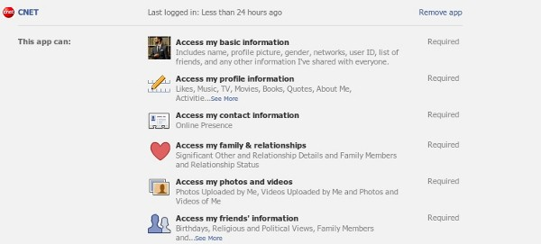 CNET App Permissions