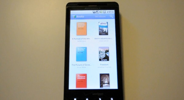 Google eBooks for Android