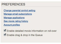 netflix preferences
