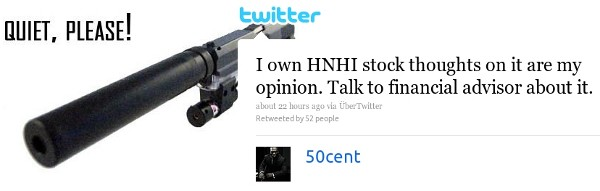 50 Cent Tweets Investment Adv
