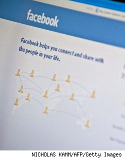 facebook login page