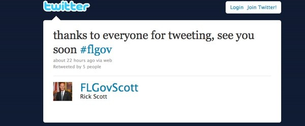 Florida governor hosts town hall on Twitter.