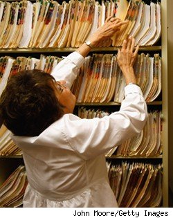 searching for medical records