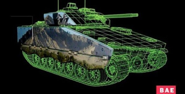 Active camo system for tanks uses electronic ink.