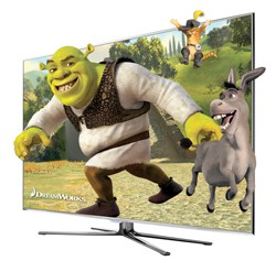 shrek 3-d tv