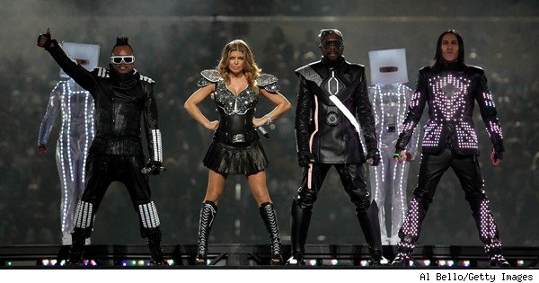 black eyed peas at the super bowl