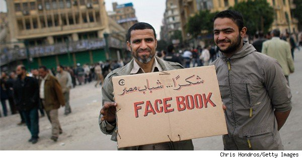 egyptian with pro-facebook sign