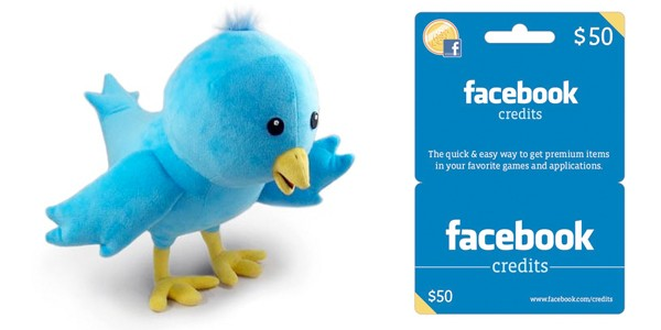 twitter plushie and facebook credits