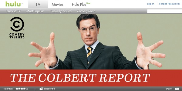 'colbert report' on hulu