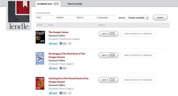 Lendle allows Amazon users to borrow and share e-books.