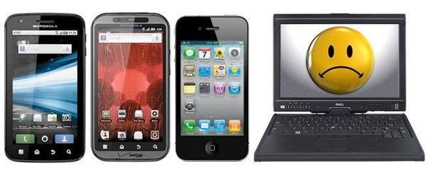 Smartphones Top PCs
