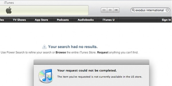exodus not found in itunes
