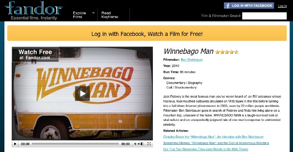 'Winnebago Man' on Fandor