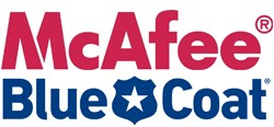 mcafee and blue coat logos