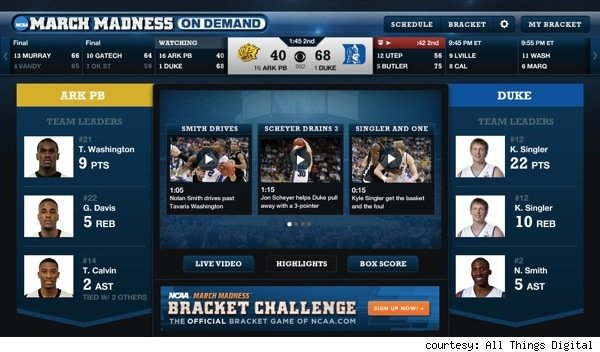 March Madness comes to iPad, iPhone.