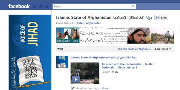 islamic state of afghanistan facebook page