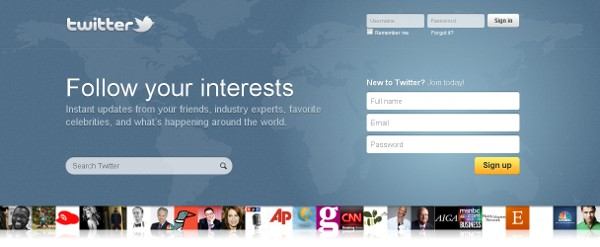 New Twitter Homepage