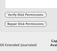 disk permissions
