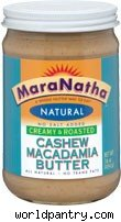 MaraNatha Creamy and Roasted Cashew Macadamia Butter