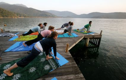 yoga at the Island Experience