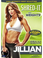 jillian michaels shred-it with weights dvd
